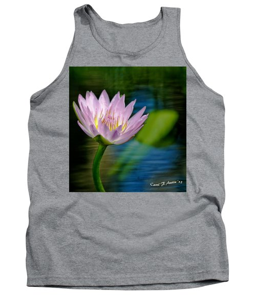 Purple Petals Lotus Flower Impressionism Tank Top