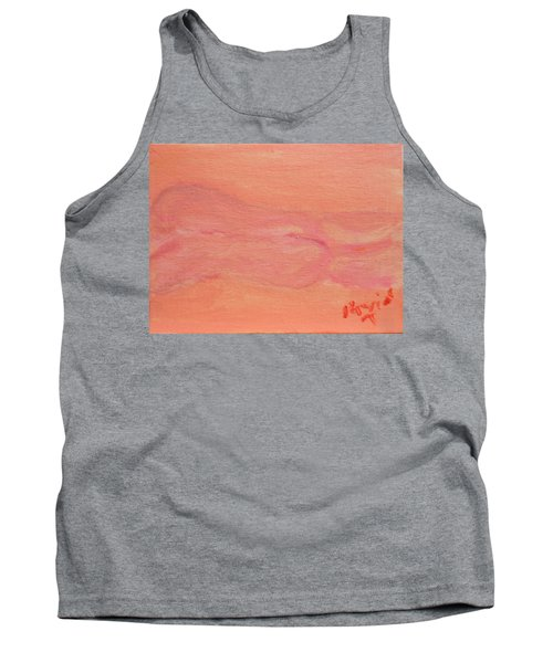 Pink Nude On Orange Tank Top by David Trotter