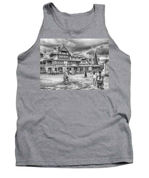 Tank Top featuring the photograph Pinocchio's Village Haus by Howard Salmon