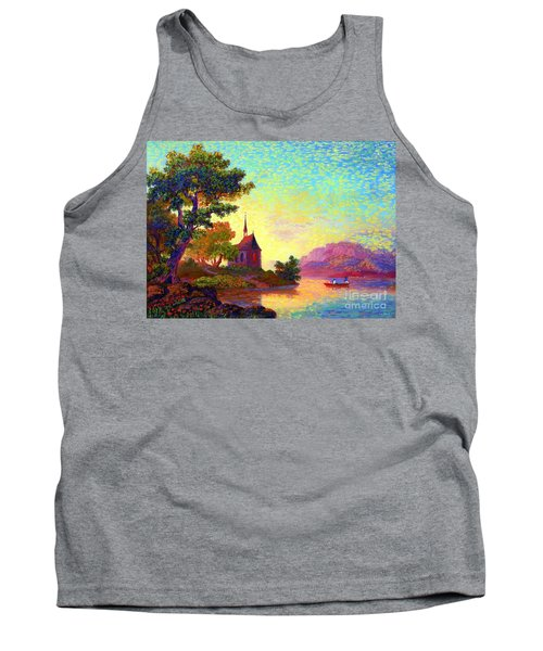 Tank Top featuring the painting Beautiful Church, Place Of Welcome by Jane Small