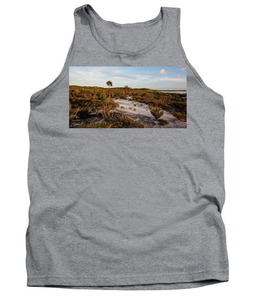 Plants And Dunes On Beach, Great Exuma Tank Top