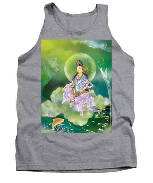 Playing Avalokitesvara   Tank Top by Lanjee Chee