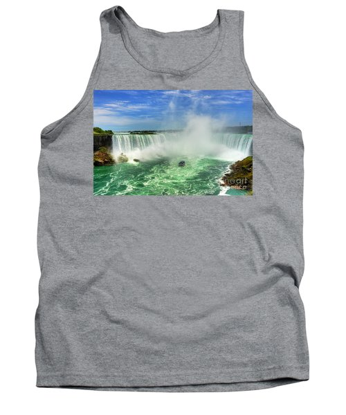 Point Of Land Cut In Two.. Tank Top