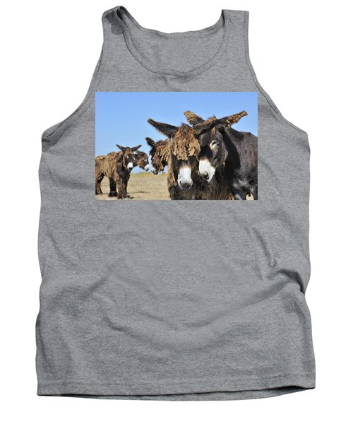 Tank Top featuring the photograph Poitou Donkey 3 by Arterra Picture Library