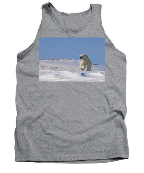 Polar Bear Sits Outside Her Den Tank Top