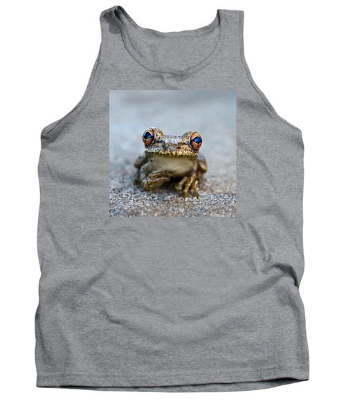 Pondering Frog Tank Top by Laura Fasulo