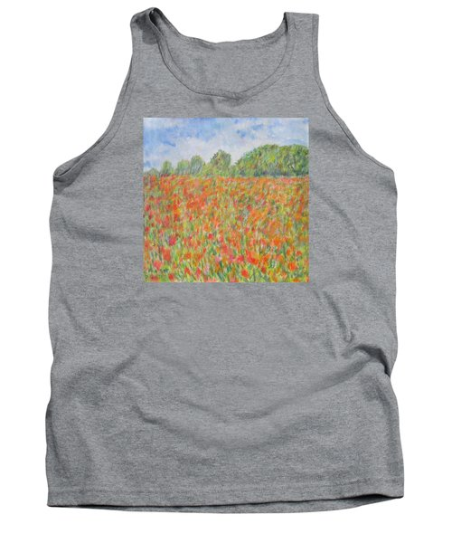 Poppies In A Field In Afghanistan Tank Top