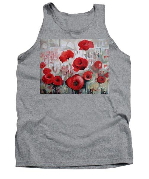 Poppy Flowers Tank Top