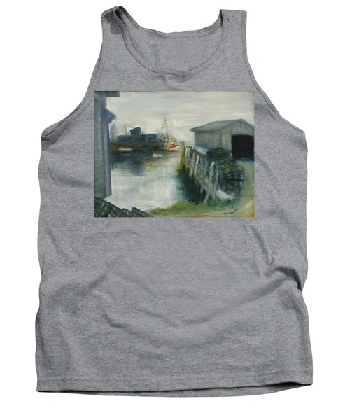 Port Clyde In Fog Tank Top