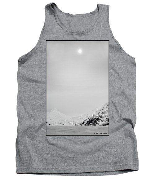 Portage Lake In Fog Tank Top