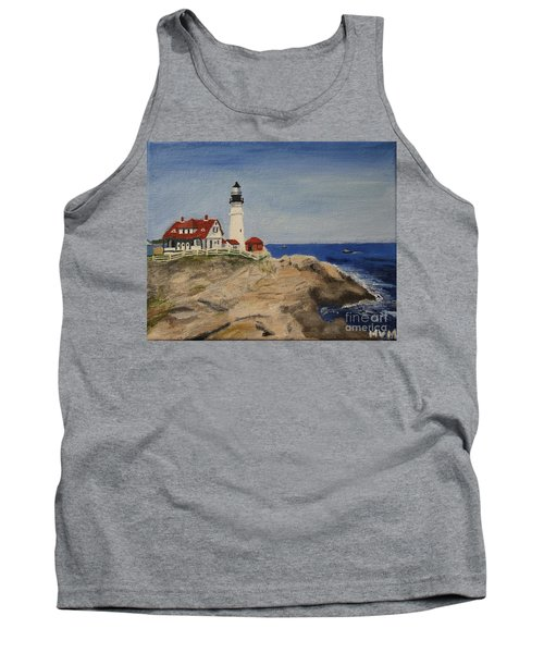 Portland Head Lighthouse In Maine Tank Top