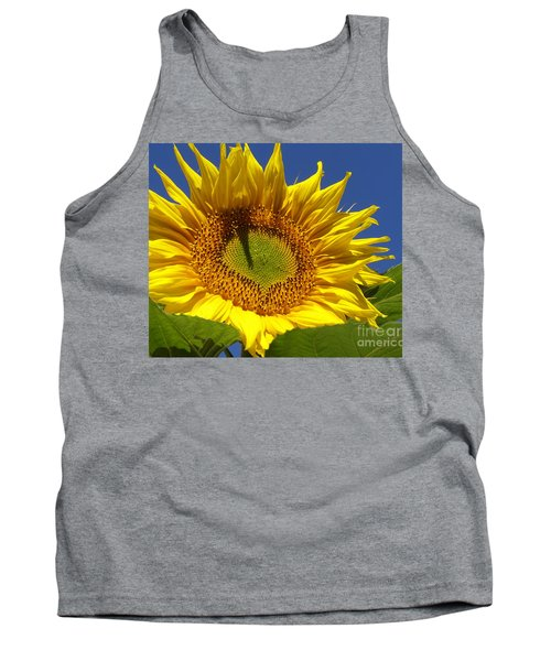 Portrait Of A Sunflower Tank Top by Diane Miller