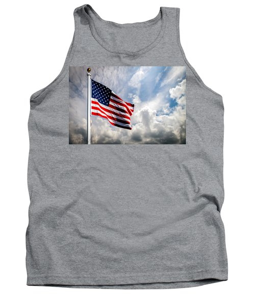 Portrait Of The United States Of America Flag Tank Top