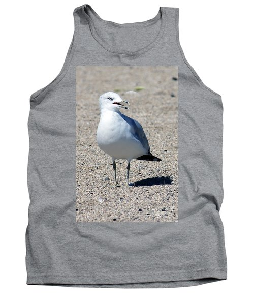 Tank Top featuring the photograph Posing Gull by Debbie Hart