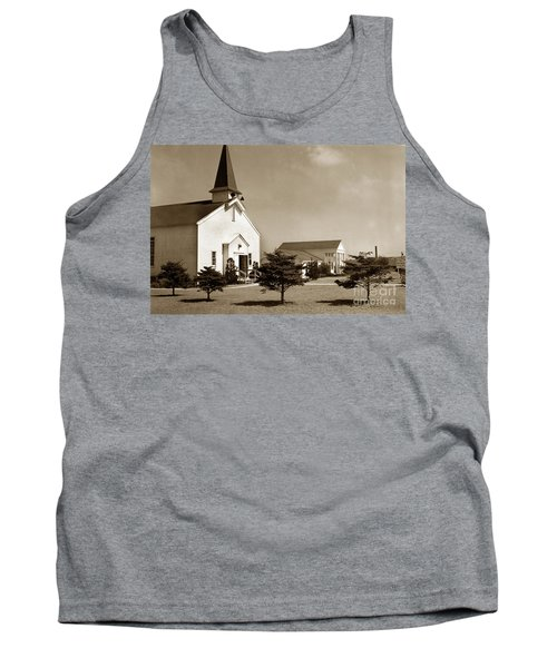 Post Chapel And Red Cross Building Fort Ord Army Base California 1950 Tank Top
