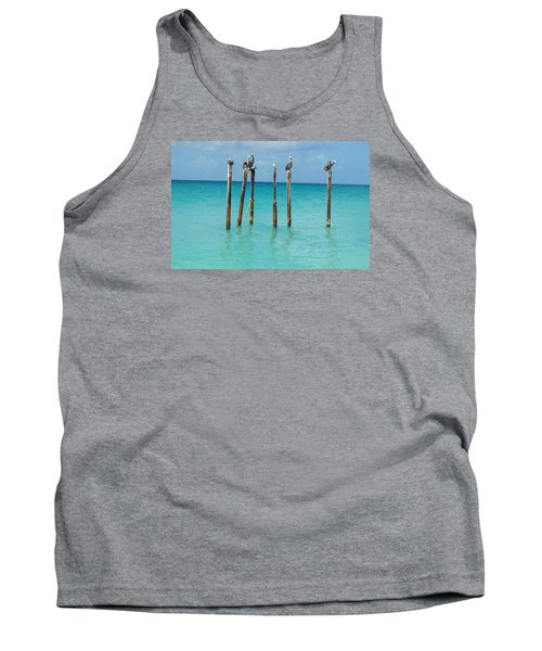 Posted Seagull Tank Top by David and Lynn Keller