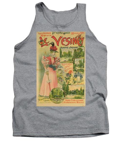 Poster For The Chemins De Fer De Louest To Le Vesinet Tank Top