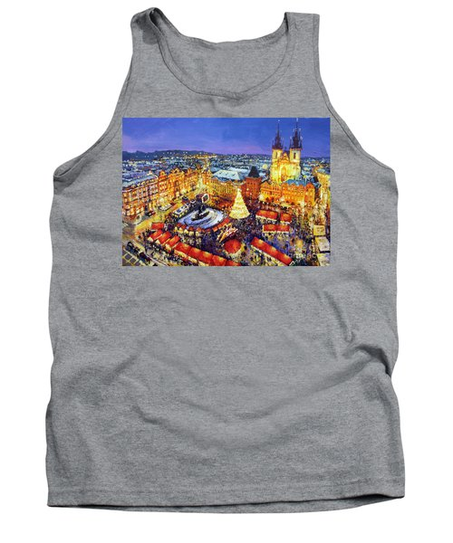 Prague Old Town Square Christmas Market 2014 Tank Top