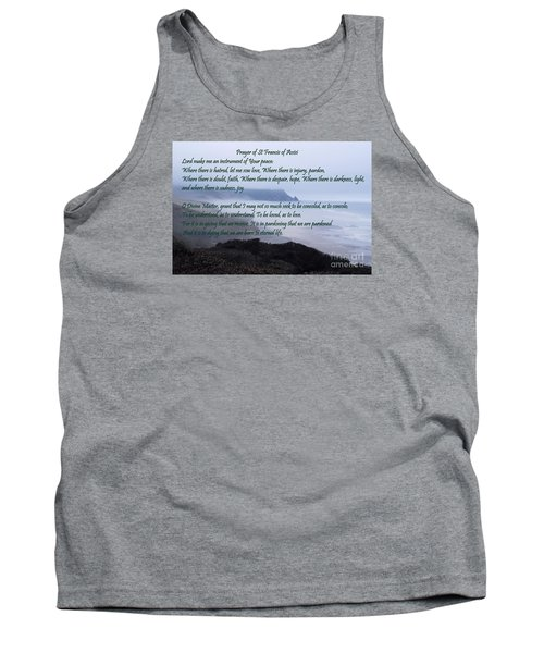 Prayer Of St Francis Of Assisi Tank Top by Sharon Elliott