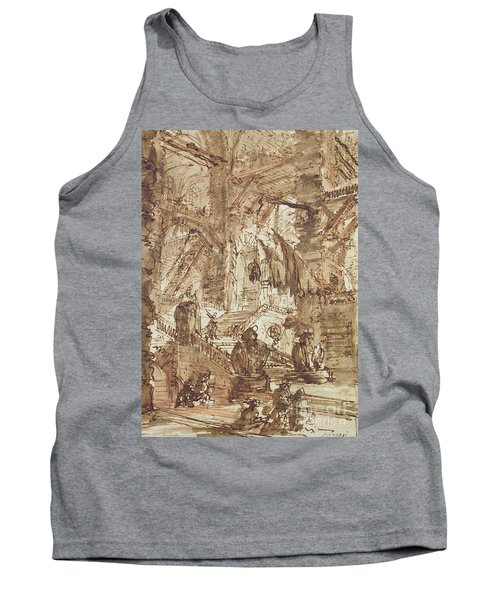 Preparatory Drawing For Plate Number Viii Of The Carceri Al'invenzione Series Tank Top by Giovanni Battista Piranesi