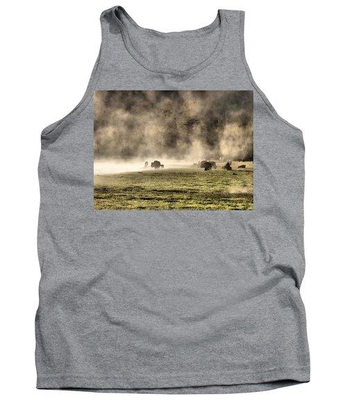 Buffalo Herd In Yellowstone Tank Top