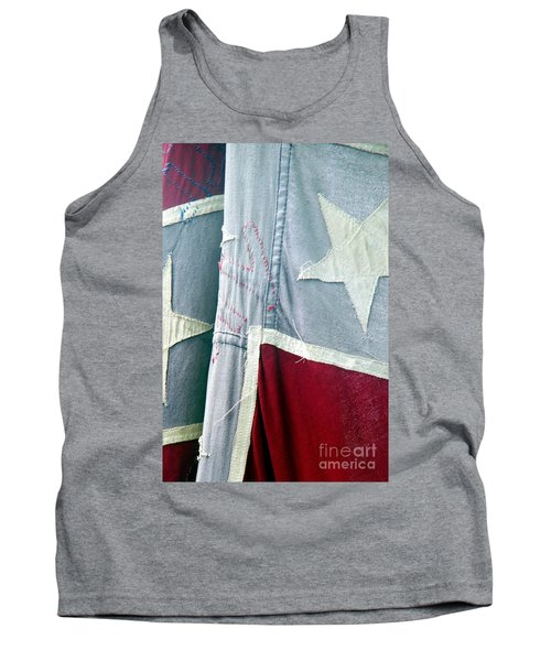 Tank Top featuring the photograph Primitive Flag by Valerie Reeves