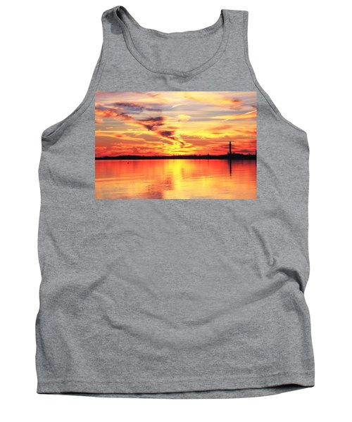 Provincetown Harbor Sunset Tank Top by Roupen  Baker