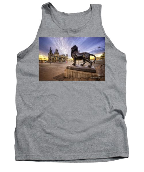 Puerto De Barcelona Sunrise Tank Top by Yhun Suarez