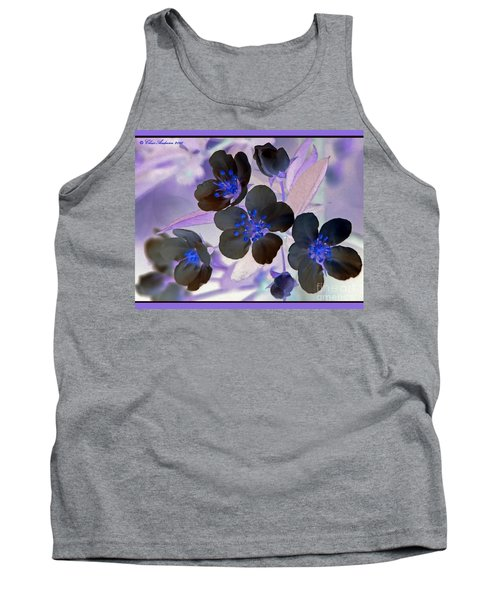 Purple Blue And Gray Tank Top by Chris Anderson