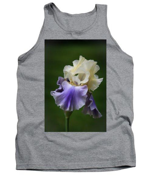 Purple Cream Bearded Iris Tank Top by Patti Deters