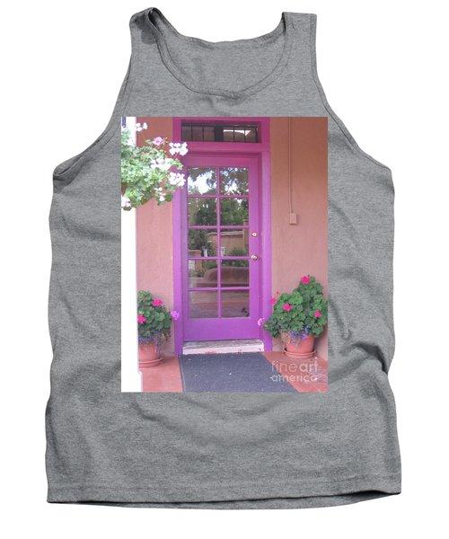 Tank Top featuring the photograph Purple Door by Dora Sofia Caputo Photographic Art and Design