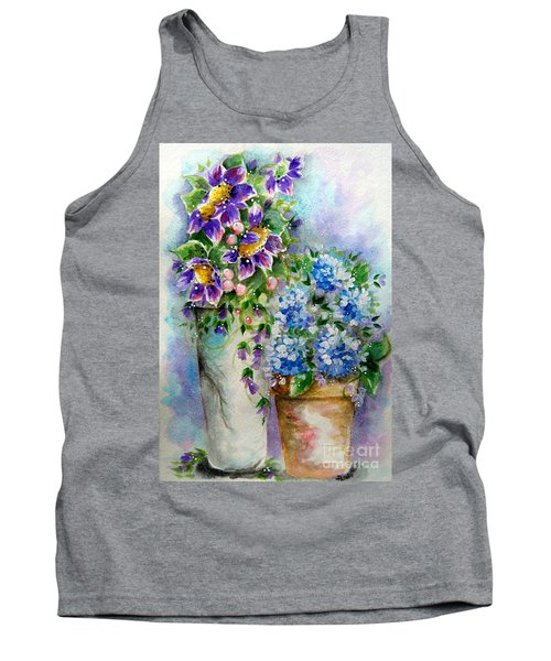 Purple Flowers Tank Top