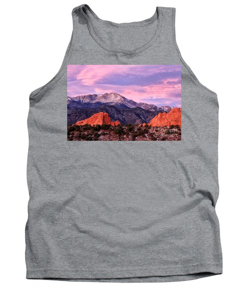 Purple Skies Over Pikes Peak Tank Top by Ronda Kimbrow