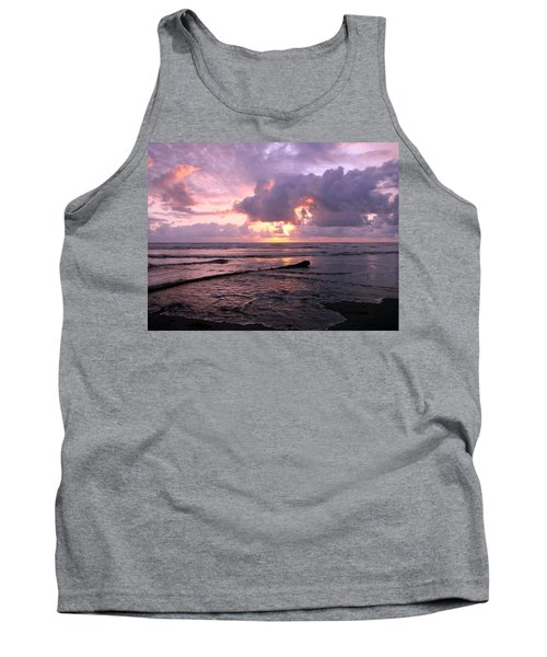 Tank Top featuring the photograph Purple Pink Sunset by Athena Mckinzie