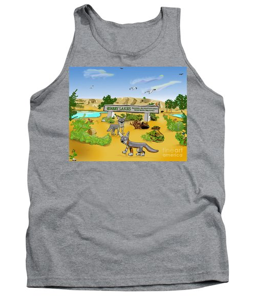 Quarry Lakes And Gray Foxes Tank Top