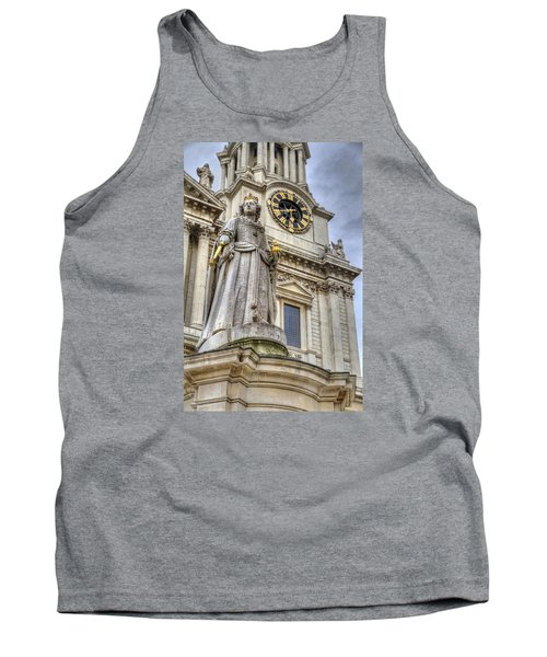 Tank Top featuring the photograph Queen Anne Statue by Tim Stanley