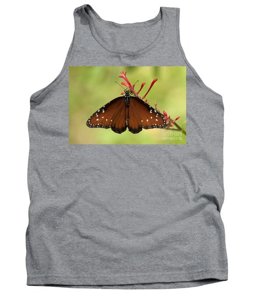 Tank Top featuring the photograph Queen Butterfly by Meg Rousher