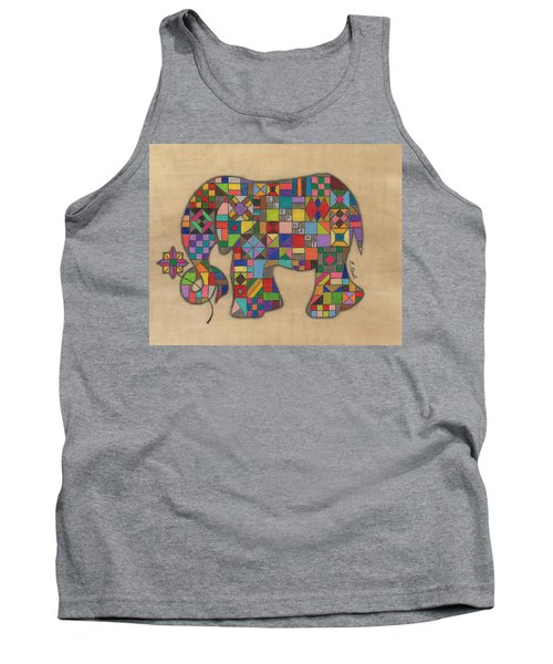 Quilted Elephant Tank Top