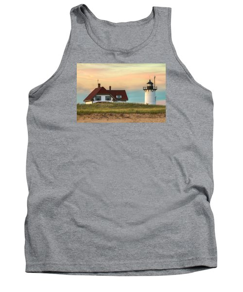 Race Point Light At Sunset Tank Top by Brian Caldwell