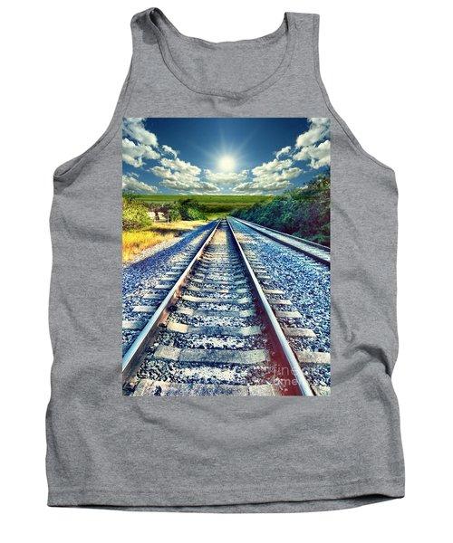 Railroad To Heaven Tank Top by Carlos Avila