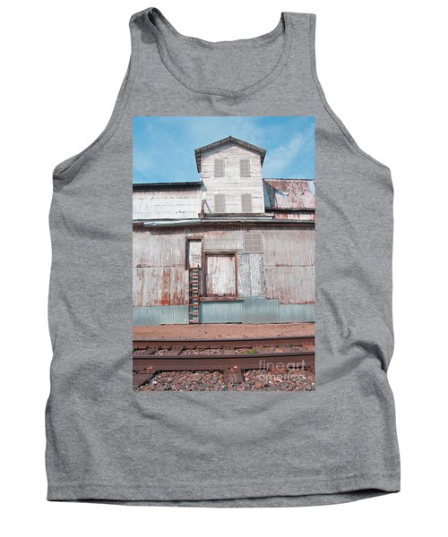 Railroad To The Past Tank Top by Minnie Lippiatt