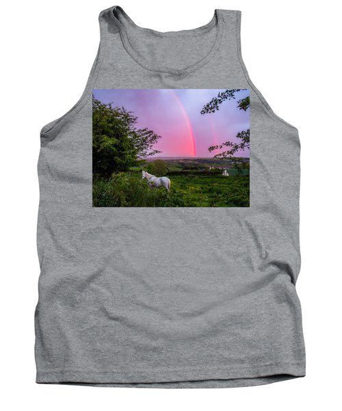 Rainbow At Sunset In County Clare Tank Top