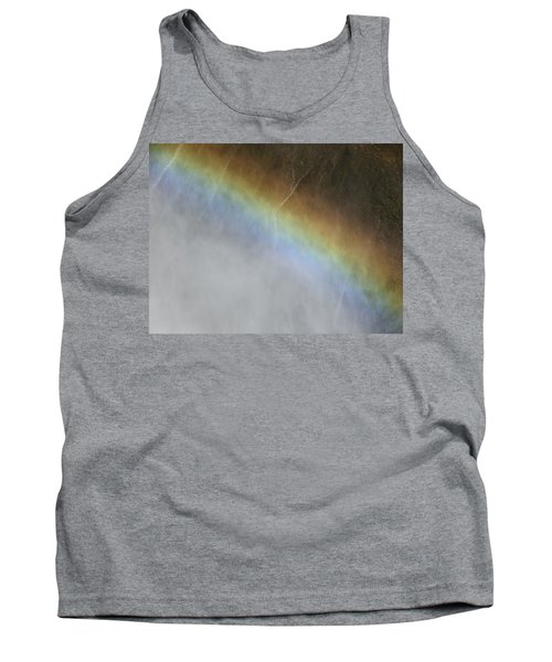 Tank Top featuring the photograph Rainbow Over The Falls by Laurel Powell