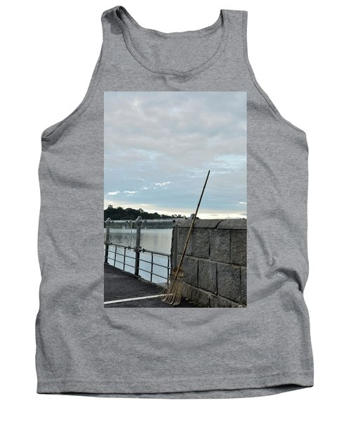 Tank Top featuring the photograph Rake Rests Itself After A Hard Days Work by Imran Ahmed