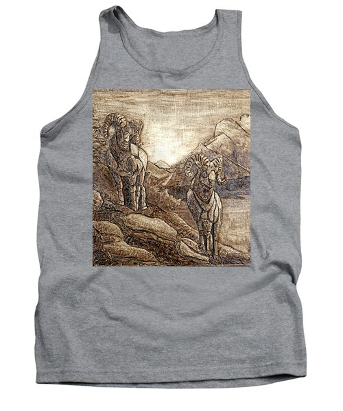 Tank Top featuring the relief Rams Relief by Wendy McKennon