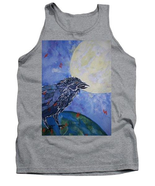 Raven Speak Tank Top by Ellen Levinson