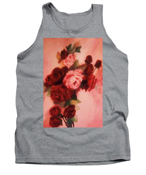Tank Top featuring the painting Red And Pink Roses by Christy Saunders Church
