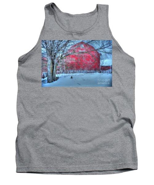 Red Barn In Winter Tank Top