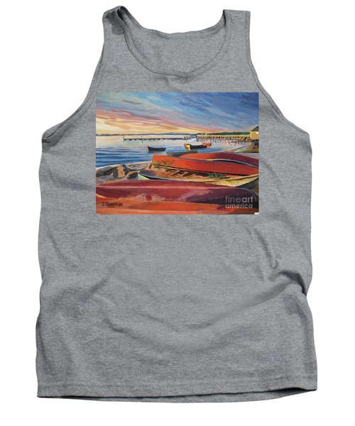 Red Canoe Sunset Tank Top