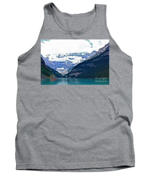 Red Canoes Turquoise Water Tank Top